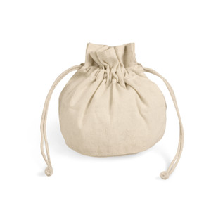 small natural cotton canvas drawstring bag pouch