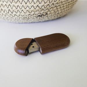 walnut oval usb flash drive 3.0