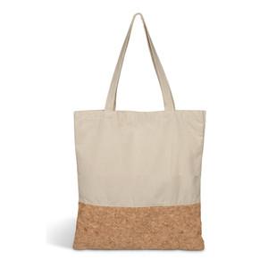 natural cotton & cork tote bag