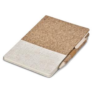cork notebook & pen gift