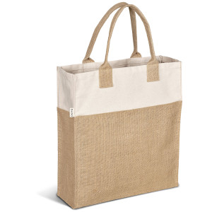 jute hessian and cotton tote bag