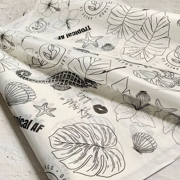 personalized tissue paper printing
