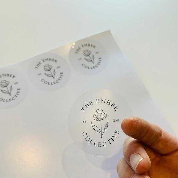 clear custom printed stickers