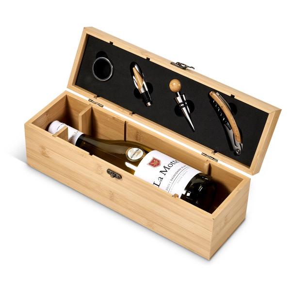 Personalized bamboo wine gift box