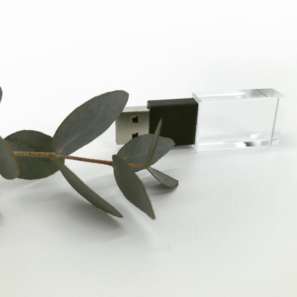 matt black crystal USB flash drive