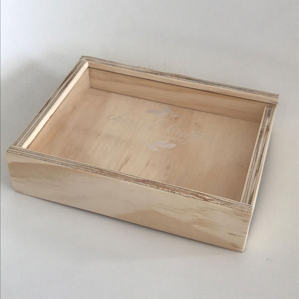 jumbo photo wooden keepsake box with acrylic perspex lid