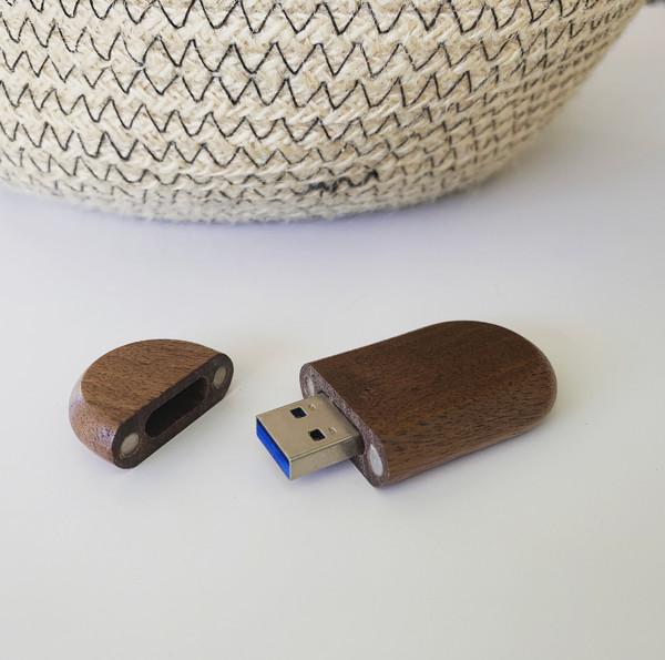 dark wooden usb flash drives