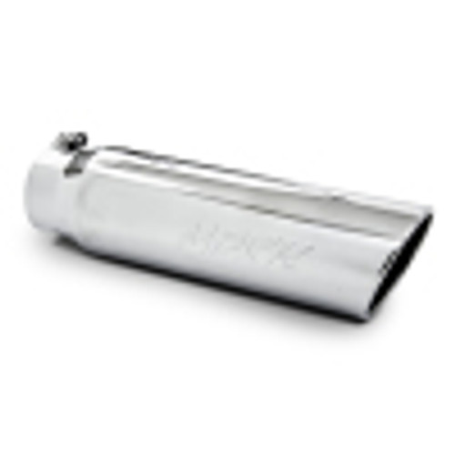 MBRP Universal 5in OD Angled Rolled End 4in Inlet 18in Lgth Exhaust Tip