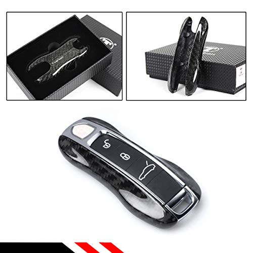 Cuztom Tuning Real Carbon Fiber Replacement Key Fob Remote Case Cover Trim