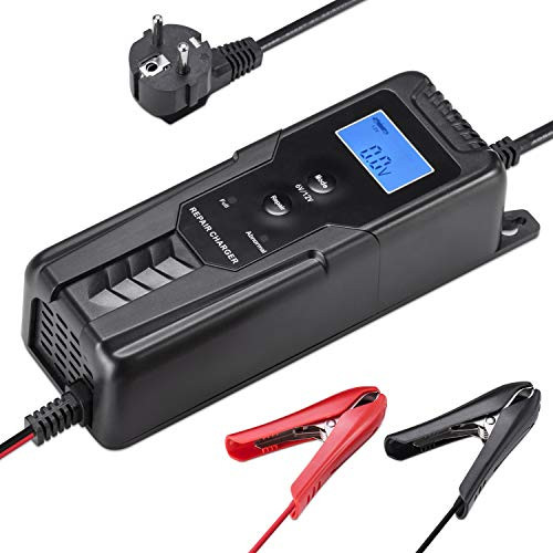 6V/12V 4A Automatic Smart Battery Charger Maintainer with Cable Clamps