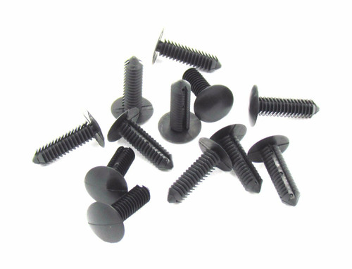 Black Nylon Xmas Tree Barbed Type Clips Retainers Qty 100 Pcs Part # 1605396