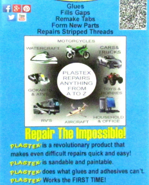 Plastic Repair Kit Plastex Standard Size Great for Dash and Console Repair Clear