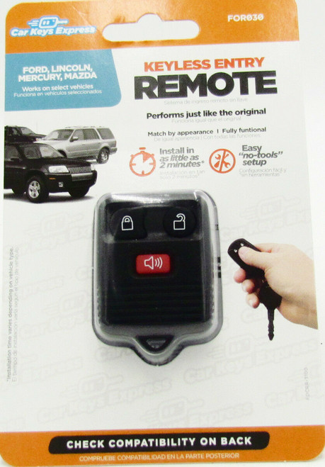 Car Keys Express FOR030 Replacement Keyless Entry Remote Ford Lincoln Mazda New