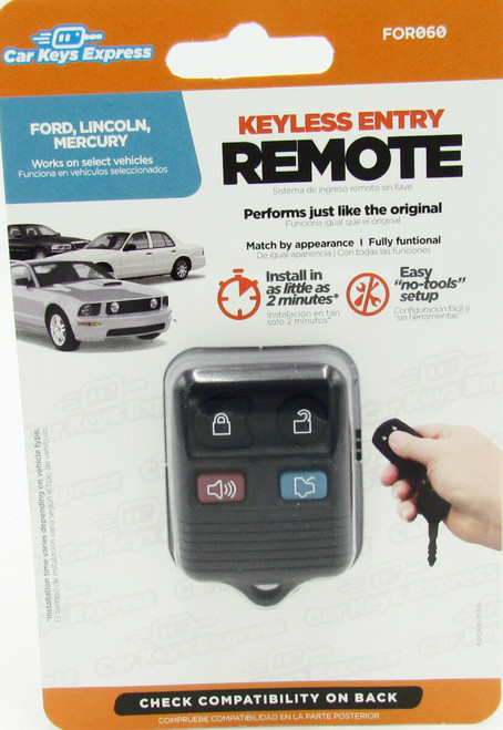 Car Keys Express FOR060 Replacement Keyless Entry Remote Ford With Remote Trunk