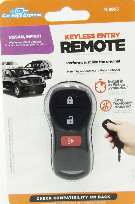 Car Keys Express NIS055 Replacement Keyless Entry Remote For Nissan and Infiniti