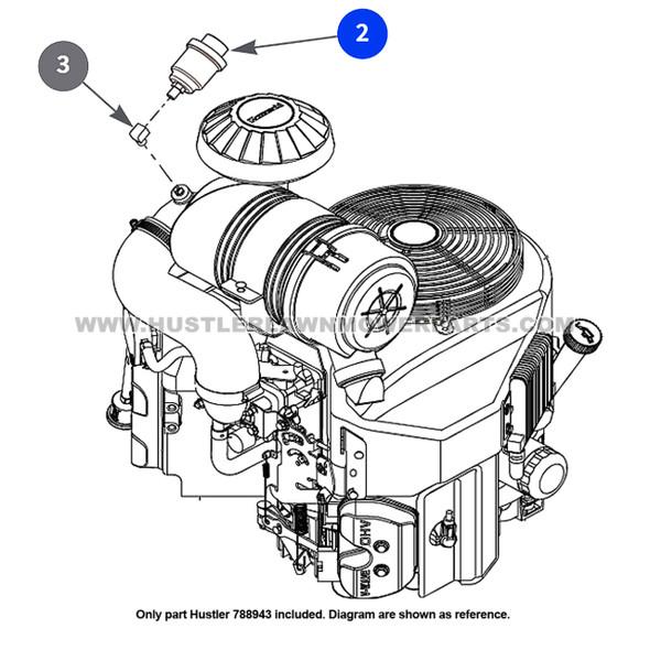 Parts lookup Hustler 788943 Air Filter Indicator OEM diagram