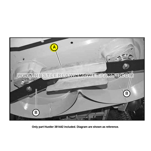 Parts lookup Hustler 381442 Lawn Mower Blade Removal Tool Assembly OEM diagram