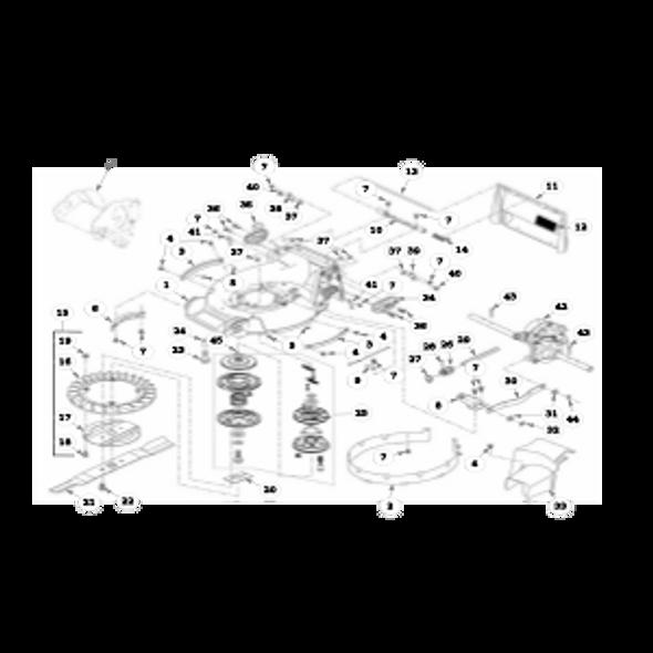 Parts lookup for HUSTLER M1 929208 - Mower Deck Assembly