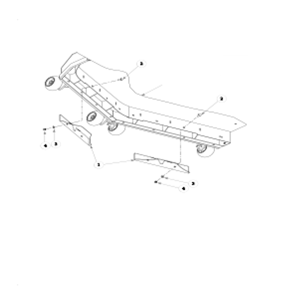 "Parts lookup for HUSTLER ATZ 928150 - Side Discharge Deck - ""A"" Adaptors Deck Assembly"