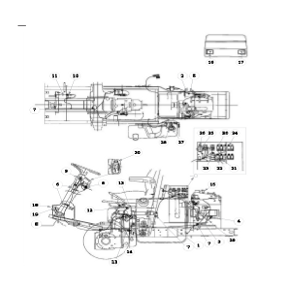Parts lookup for HUSTLER 3500 / 3700 AWD Front Mount Diesel 928705 - Wire Harness