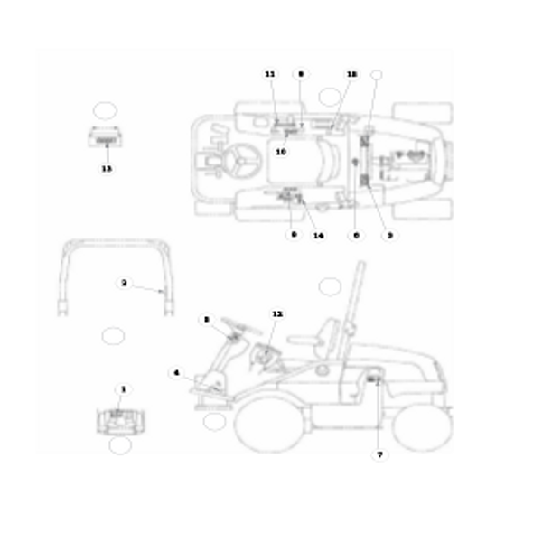 Parts lookup for HUSTLER 3500 / 3700 AWD Front Mount Diesel 928705 - Control Decals