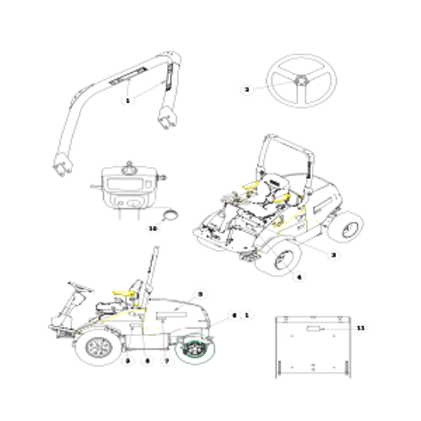 Parts lookup for HUSTLER 3500 / 3700 AWD Front Mount Diesel 928705 - Power Unit Decals - S/N prior to 09080000