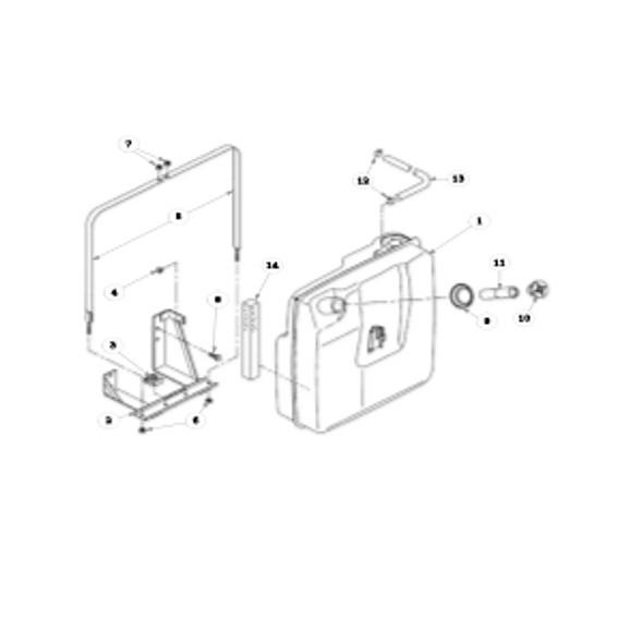 Parts lookup for HUSTLER 3500 / 3700 AWD Front Mount Diesel 928713CA - Fuel Tank