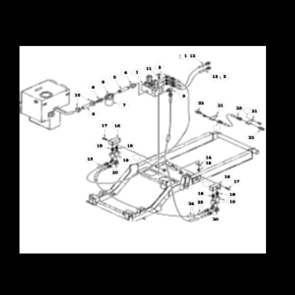 Parts lookup for HUSTLER 7500 / 7700 928762CA - Hydraulic System - Reel Solenoid Valve to Rear Valves