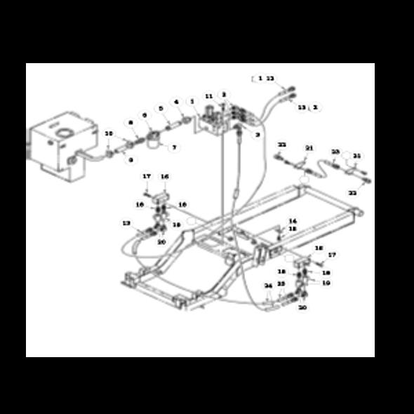 Parts lookup for HUSTLER 7500 / 7700 928762 - Hydraulic System - Reel Solenoid Valve to Rear Valves
