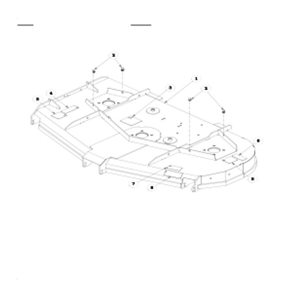 Parts lookup for HUSTLER X-ONE 930552 - Side Discharge Service Deck (0599)