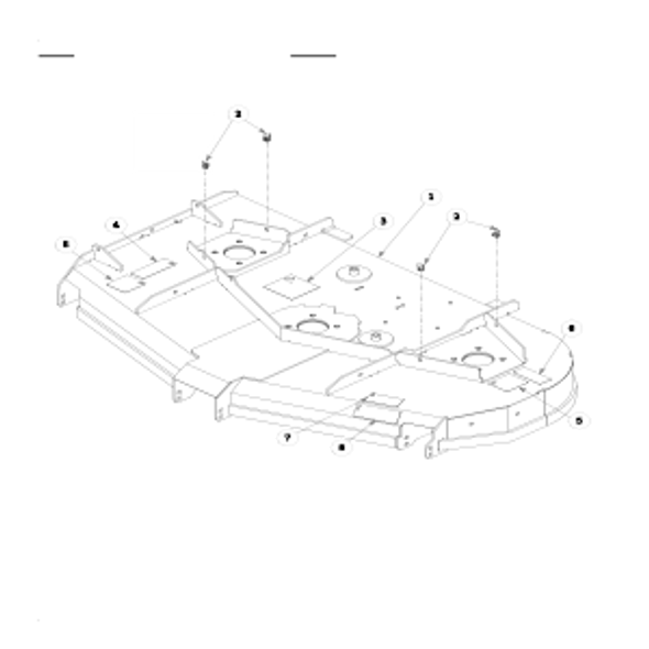 Parts lookup for HUSTLER X-ONE 930578 - Side Discharge Service Deck (0626)