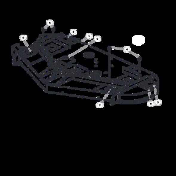 """Parts lookup for HUSTLER SPORT 930651 - 54"""" Side Discharge Service Deck"""
