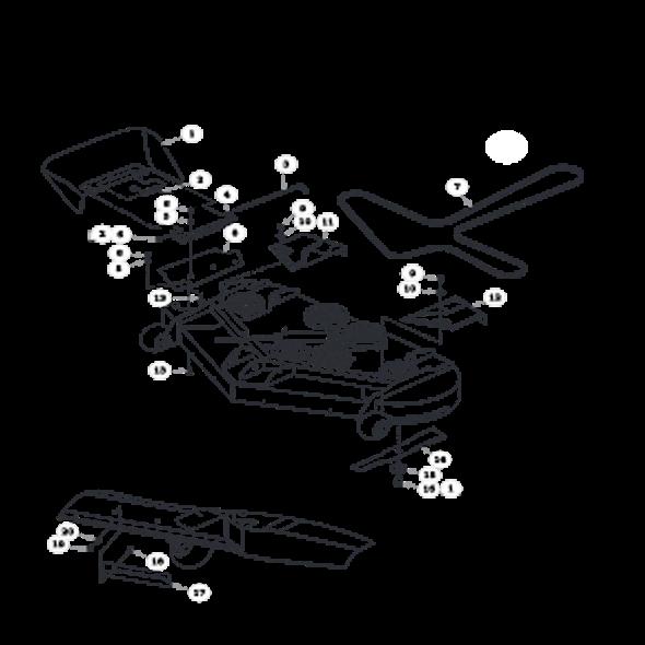 Parts lookup for HUSTLER SPORT 930198 - Side Discharge Deck (0283)