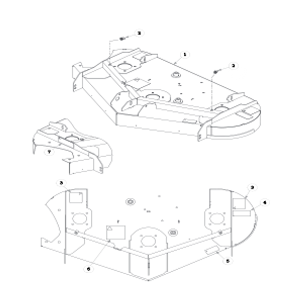 Parts lookup for HUSTLER SPORT 930206 - Side Discharge Service Deck (0293)
