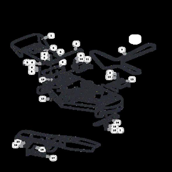 Parts lookup for HUSTLER SPORT 930222 - Side Discharge Deck (0325)