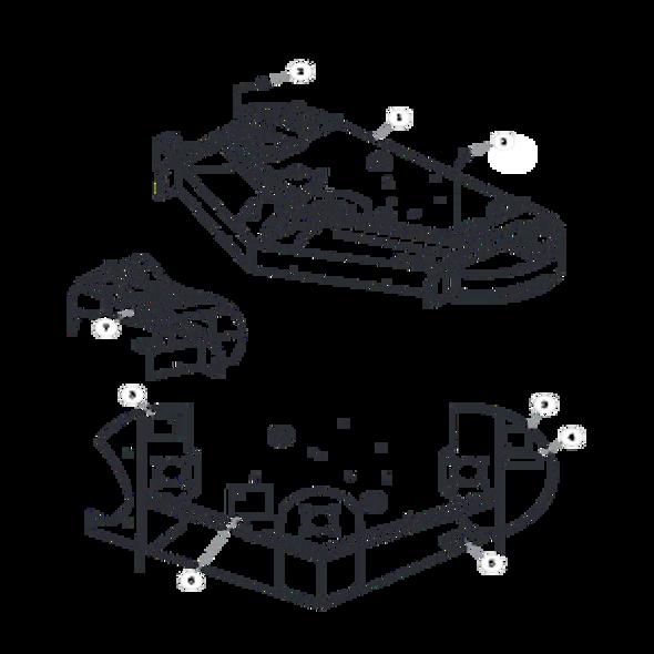 Parts lookup for HUSTLER SPORT 930651 - Side Discharge Service Deck (0668)