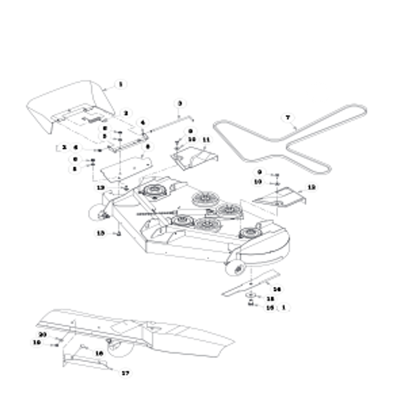 Parts lookup for HUSTLER SPORT 930651 - Side Discharge Deck (0670)