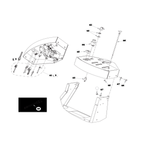 Parts lookup for HUSTLER TRIMSTAR 930396US - Instrument Panel (0408)