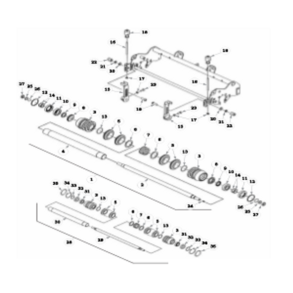 """Parts lookup for HUSTLER 7500 / 7700 929158 - Front Roller - 5"""" Reels"""