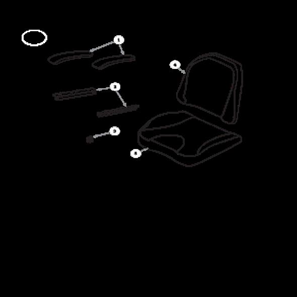 Parts lookup for HUSTLER RAPTOR 932004US - Seat Service Parts Seats Inc. 907 - Limited