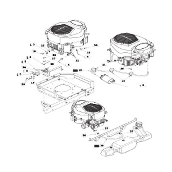 Parts lookup for HUSTLER RAPTOR 933382 - Engine Kohler - with Carbon Canister (1427)