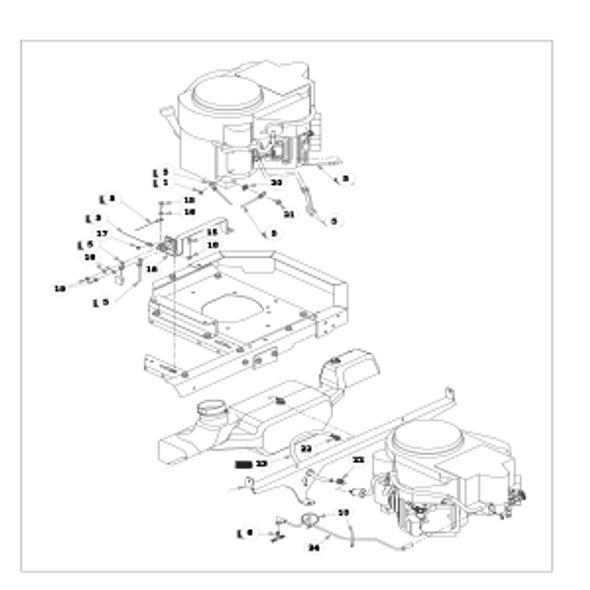 Parts lookup for HUSTLER RAPTOR 935742 - Engine Kawasaki FR651V and FR691V - without Carbon Canister (2242)