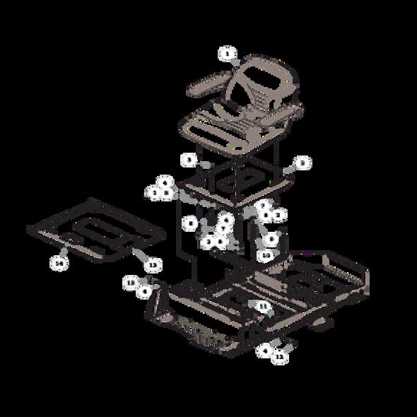 Parts lookup for HUSTLER RAPTOR 933465EX - Seat - with Armrests - S/N 15110000 and higher