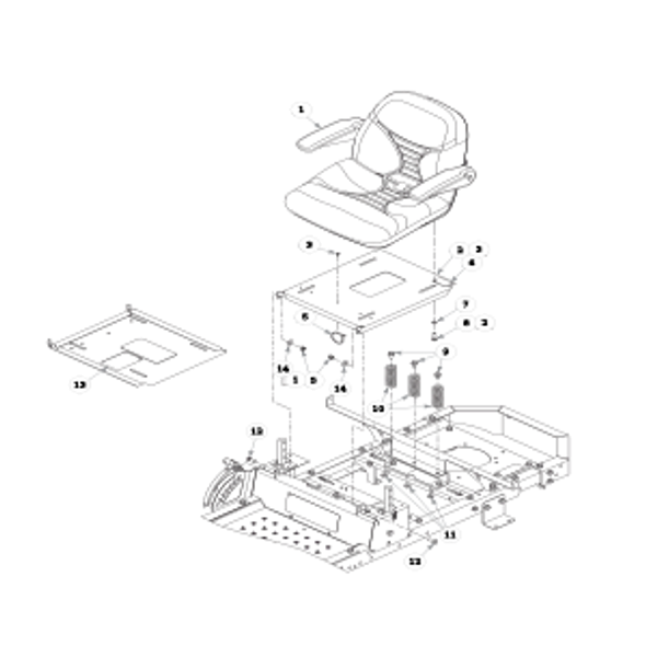 Parts lookup for HUSTLER RAPTOR 933465EX - Seat - with Armrests - S/N prior to 15110000