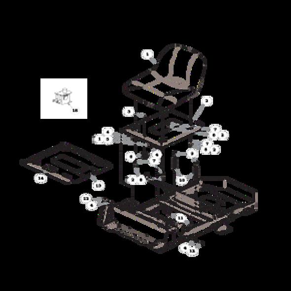 Parts lookup for HUSTLER RAPTOR 933465EX - Seat - without Armrests