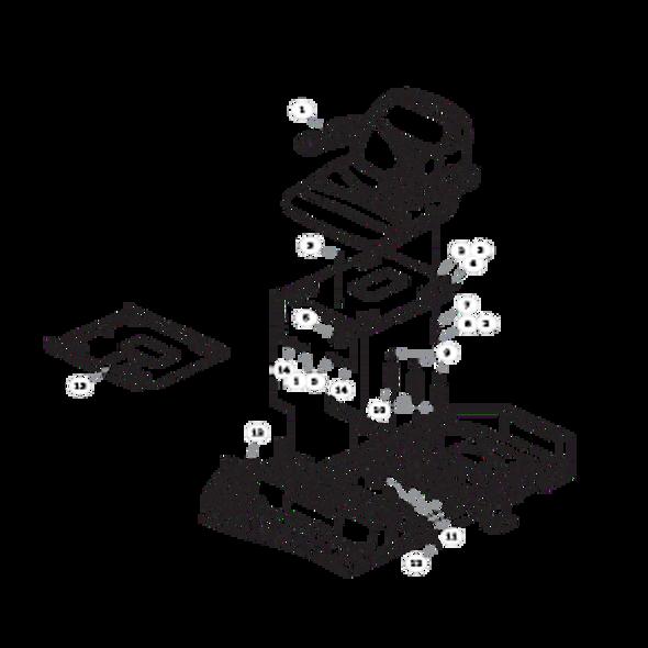 Parts lookup for HUSTLER RAPTOR 934679EX - Seat - with Armrests - S/N prior to 15110000
