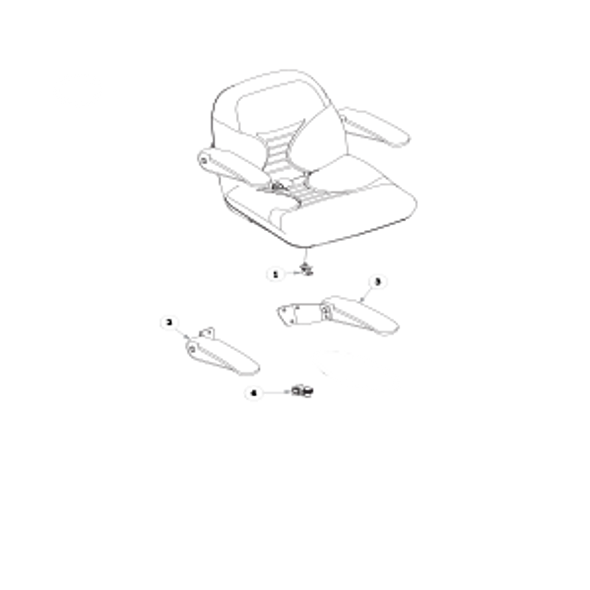 Parts lookup for HUSTLER RAPTOR 934679EX - Seat Service Parts - seats with Armrests