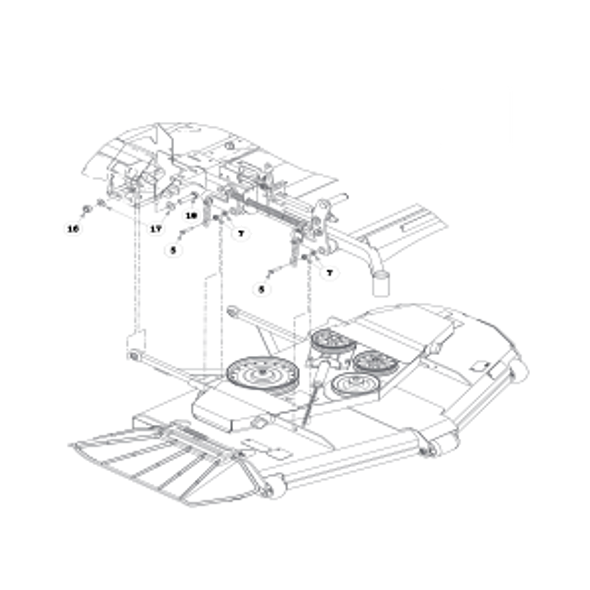 Parts lookup for HUSTLER ATZ 931923 - Deck Mounting Hardware