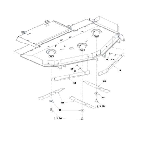 "Parts lookup for HUSTLER ATZ 931915 - 60"" Rear Discharge Deck (0827)"