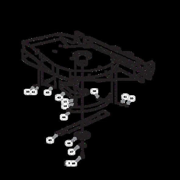 Parts lookup for HUSTLER SUPER 104 931733 - Left Side Deck - S/N prior to 16010000 (0777)